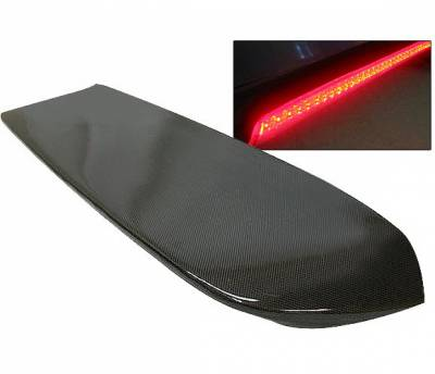4 Car Option - Honda Civic HB 4 Car Option Carbon Fiber Roof Spoiler with LED - ASC-SPHC96-LED