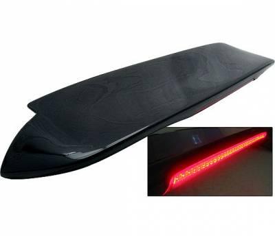 4 Car Option - Honda Civic HB 4 Car Option Fiberglass Roof Spoiler with LED - AS-SPHC92FRP-LED