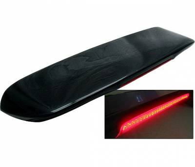 4 Car Option - Honda Civic HB 4 Car Option Fiberglass Roof Spoiler with LED - AS-SPHC96FRP-LED