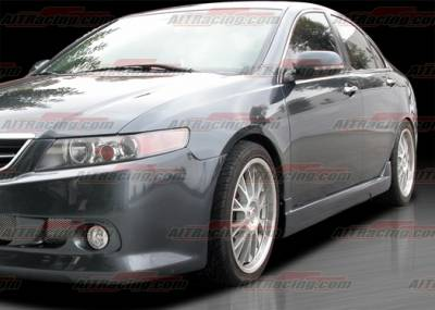 AIT Racing - Acura TSX AIT Racing KS Style Side Skirts - ATX04HIKENSS