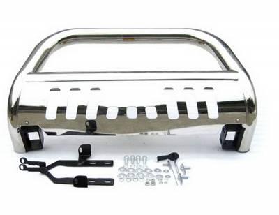 4 Car Option - Toyota Highlander 4 Car Option Stainless Steel Bull Bar - BB-TY-0250