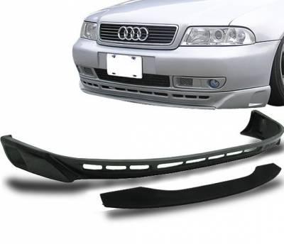 4CarOption - Audi A4 4CarOption Front Bumper Lip - BLF-AA496A-PU