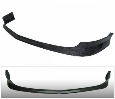 4 Car Option - Acura RSX 4 Car Option Carbon Fiber T-R Style Front Bumper Lip - BLFC-AR02J-CF