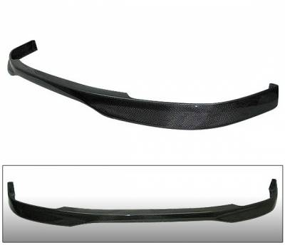 4 Car Option - Honda Civic 4 Car Option Carbon Fiber T-R Style Front Bumper Lip - BLF-HC96TR-CF