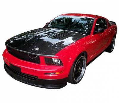 4 Car Option - Ford Mustang 4 Car Option Polyurethane Front Bumper Lip - BLFP-FM05V6-PU