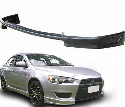 4 Car Option - Mitsubishi Lancer 4 Car Option Polyurethane Front Bumper Lip Spoiler - BLFP-ML08T-PU