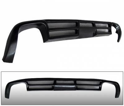 4 Car Option - Audi A4 4 Car Option Polyurethane Type A Style Rear Bumper Lip - BLR-AA407A-PU