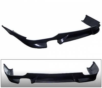 4 Car Option - BMW 5 Series 4 Car Option Polyurethane Rear Bumper Lip - BLR-BE60M-PU