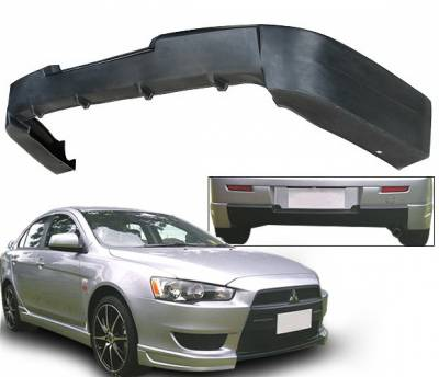 4 Car Option - Mitsubishi Lancer 4 Car Option Polyurethane Rear Bumper Lip Spoiler - BLR-ML08T-PU
