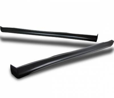 4 Car Option - Honda Prelude 4 Car Option Polyurethane Type S Style Side Skirts - BLS-HP97S-PU