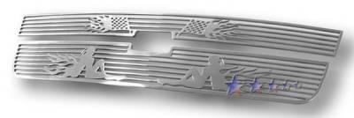 APS - Chevrolet Silverado APS Symbolic Grille - Upper - Aluminum - C25306B