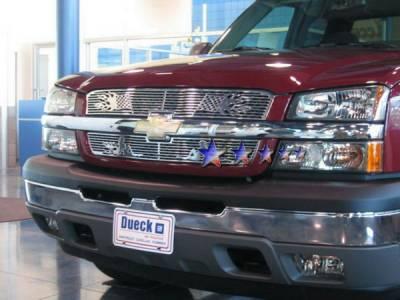APS - Chevrolet Silverado APS Symbolic Grille - Upper - Aluminum - C25717F