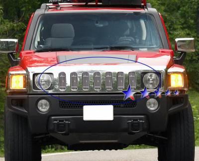 APS - Hummer H3 APS Billet Grille - Upper - Aluminum - C66458V