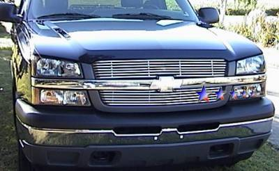 APS - Chevrolet Silverado APS Tubular Grille - Upper - Stainless Steel - C68320S