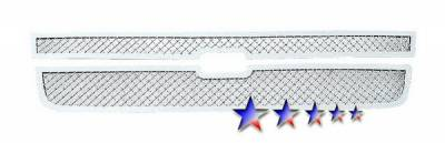 APS - Chevrolet Silverado APS Wire Mesh Grille - Upper - Stainless Steel - C75306S