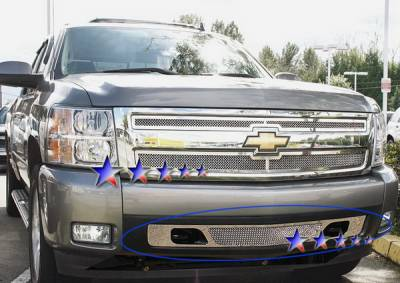 APS - Chevrolet Silverado APS Wire Mesh Grille - Bumper - Stainless Steel - C75767T