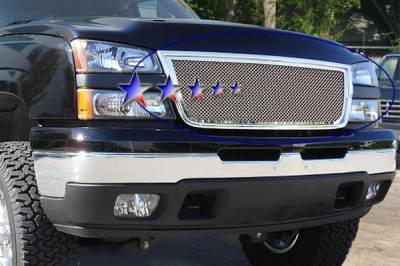 APS - Chevrolet Silverado APS Wire Mesh Grille - Upper - Stainless Steel - C76576T
