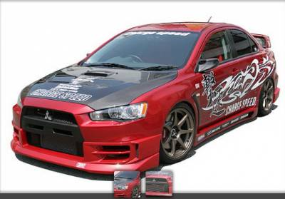 Chargespeed - Mitsubishi Lancer Chargespeed Half Type-1 Front Lip - CS427FL1