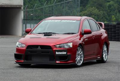 Chargespeed - Mitsubishi Lancer Chargespeed Bottom Line Full Lip Kit - 5PC - CS427FLK1C