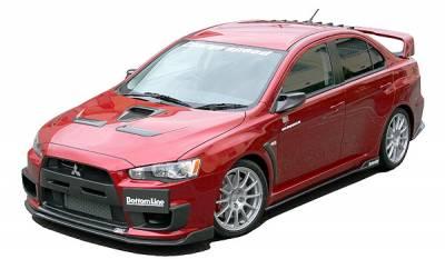 Chargespeed - Mitsubishi Lancer Chargespeed Bottom Line Full Lip Kit - 5PC - CS427FLK2C