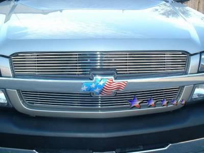 APS - Chevrolet Silverado APS Billet Grille - Upper - Stainless Steel - C85317S