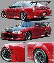 Chargespeed - Nissan 240SX Chargespeed Zenki Wide Body Full Body Kit - CS704FKW