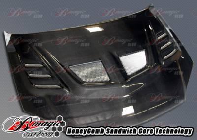 AIT Racing - Chevrolet Cobalt AIT Racing R1 Style Carbon Fiber Hood - CC05BMR1SCFH