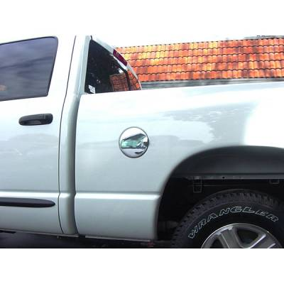 V-Tech - Dodge Ram V-Tech Fuel Door Cover - Smooth Style - Chrome - 1377088