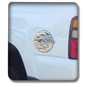 V-Tech - GMC Sierra V-Tech Fuel Door Cover - Flame Style - Chrome - 1377950