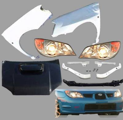 Chargespeed - Subaru Impreza Chargespeed Body Kit Conversion to 2006-2007 Front End - CS975FELK