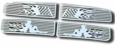 APS - Dodge Ram APS Symbolic Grille - Upper - Aluminum - D25720C
