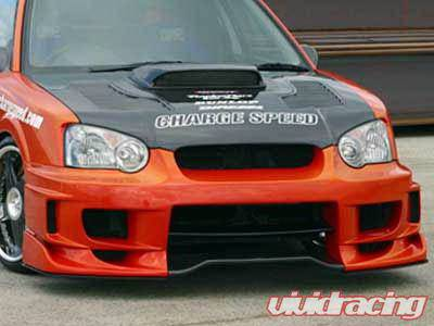 Chargespeed - Subaru Impreza Chargespeed Peanut Eye Wide Body Super GT Front Bumper with 3-D Center - CS977FBDW