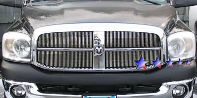APS - Dodge Ram APS Billet Grille - Upper - Stainless Steel - D65719W