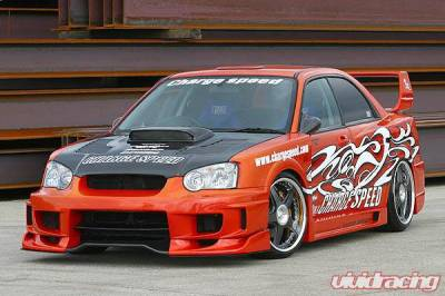 Chargespeed - Subaru Impreza Chargespeed Peanut Eye Wide Body Super GT Front Bumper with Straight Center - CS977FBSW