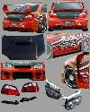 Chargespeed - Subaru Impreza Chargespeed Wide Body Conversion to 2004-2005 Front End with 3D Center - CS977FELKDW