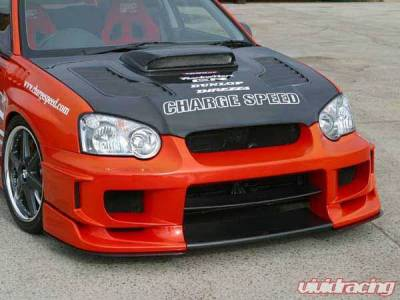 Chargespeed - Subaru Impreza Chargespeed Peanut Eye Type-2 Full Bumper Kit with Straight Carbon Center - CS977FKSA