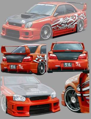 Chargespeed - Subaru Impreza Chargespeed Peanut Eye Wide Body Super GT Full Body Kit with Straight Center - CS977FKSW