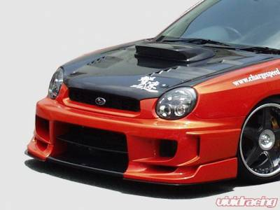 Chargespeed - Subaru Impreza Chargespeed Round Eye Type-2 Front Bumper with 3D Carbon Center Flap - CS978FBD