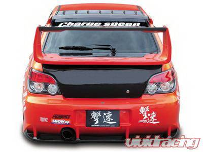Chargespeed - Subaru Impreza Chargespeed Round Eye Type-2 Full Bumper Kit with 3D Carbon Center Flap - CS978FKD