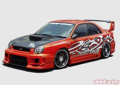 Chargespeed - Subaru Impreza Chargespeed Round Eye Type-2 Wide Body Full Body Kit with 3D Center - CS978FKDW