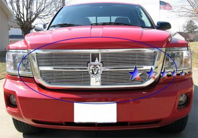 APS - Dodge Dakota APS Billet Grille - Upper - Stainless Steel - D66611S