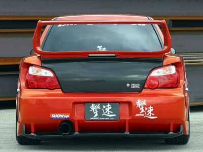 Chargespeed - Subaru Impreza Chargespeed Round Eye Wide Body Super GT Rear Bumper with Diffuser - CS978RBW