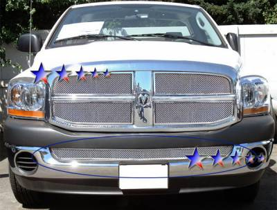 APS - Dodge Ram APS Wire Mesh Grille - Bumper - Stainless Steel - D75375T