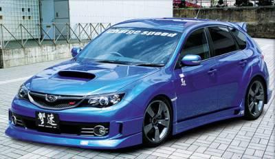 Chargespeed - Subaru WRX Chargespeed Half Type Full Spoiler Kit - 5PC - CS979FLK