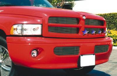 APS - Dodge Ram APS Billet Grille - Upper - Stainless Steel - D85074S