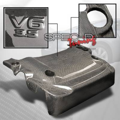 Custom Disco - Nissan 350Z Custom Disco Real Carbon Fiber Engine Cover - EC-350Z03CF-ATW
