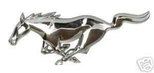 Custom - Chrome Mustang Grille Emblem