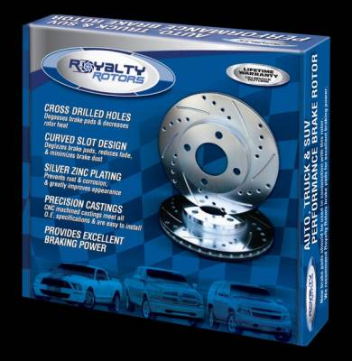 Royalty Rotors - Mercury Grand Marquis Royalty Rotors Slotted & Cross Drilled Brake Rotors - Rear