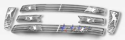 APS - Ford F150 APS Symbolic Grille - Bar Style - Upper - Aluminum - F25726B