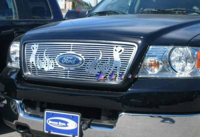 APS - Ford F150 APS Symbolic Grille - Honeycomb with Logo Opening - Upper - Aluminum - F25727B